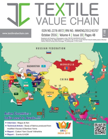 OCTOBER 2016 By TEXTILE VALUE CHAIN MEDIA   Issuu