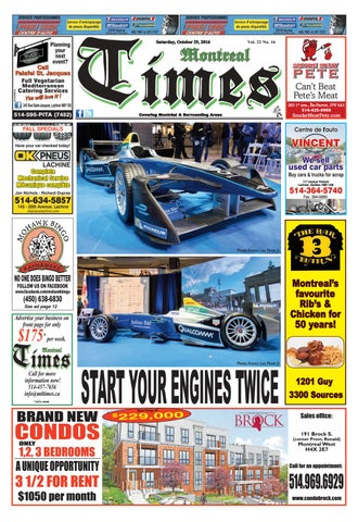 8e65a4b7119 Montreal Times 22 16 Oct 29 2016 by Montreal Times - issuu
