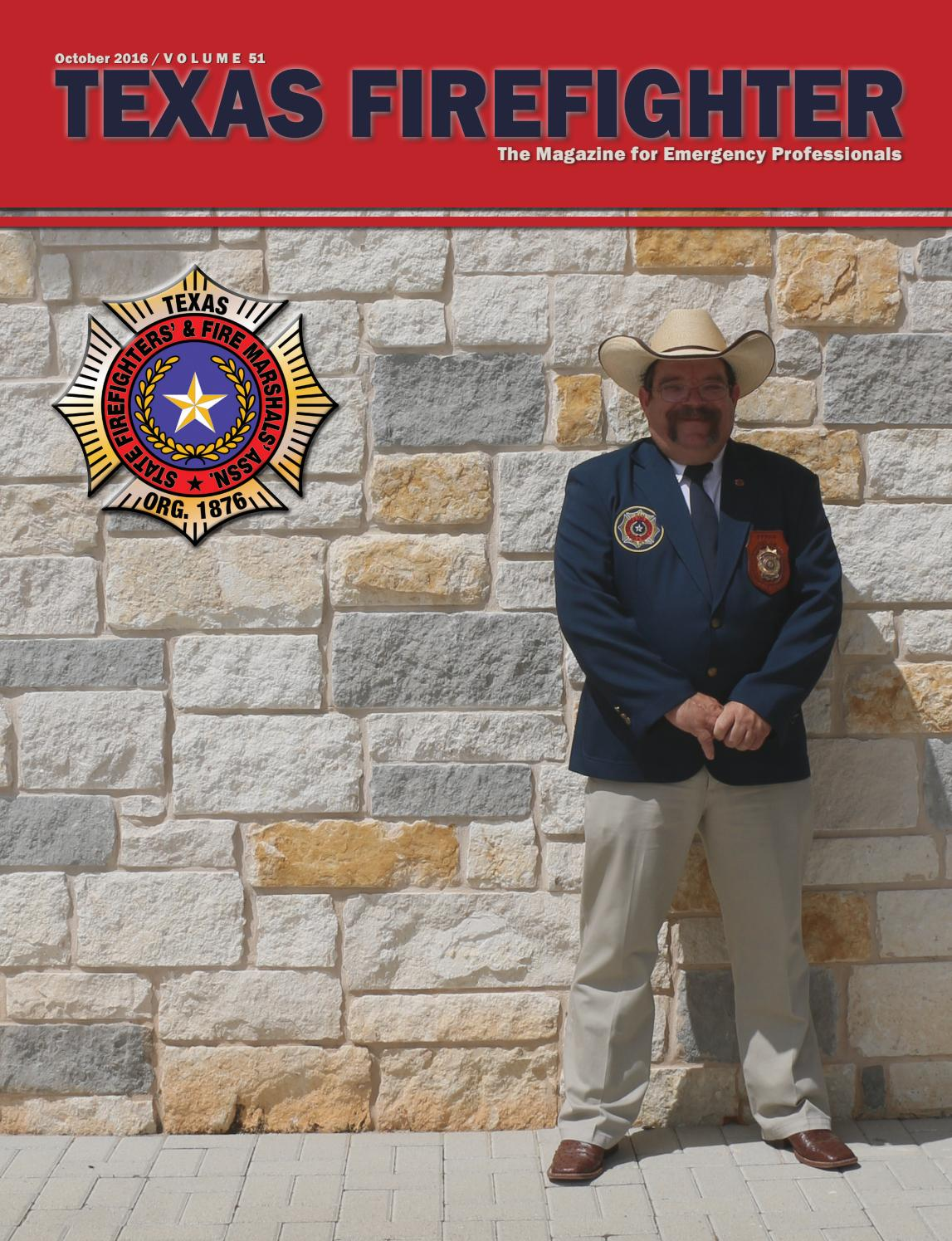 2016 Texas Firefighter by State Firefighters' and Fire