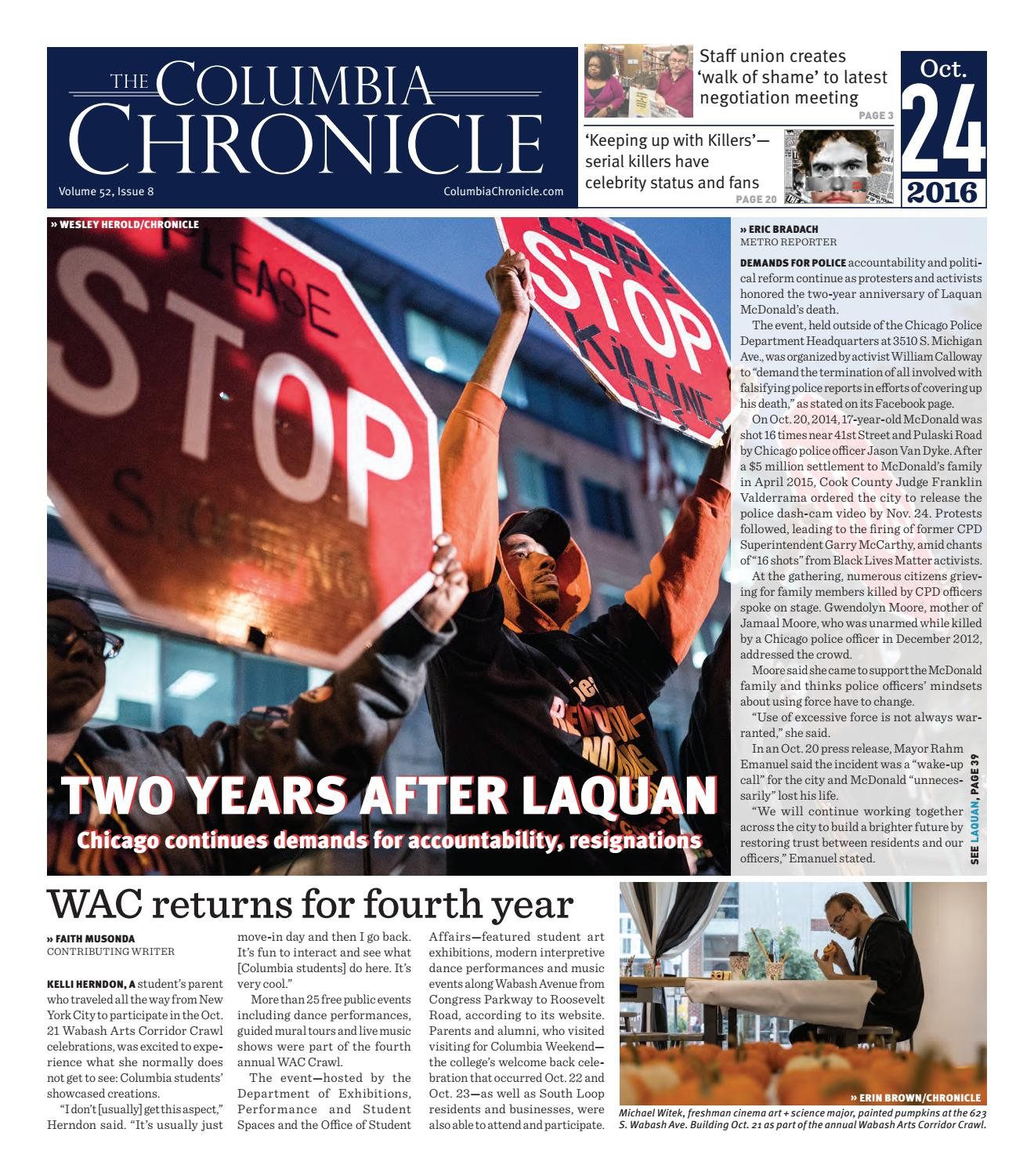 The Columbia Chronicle, October 24, 2016 by The Chronicle of