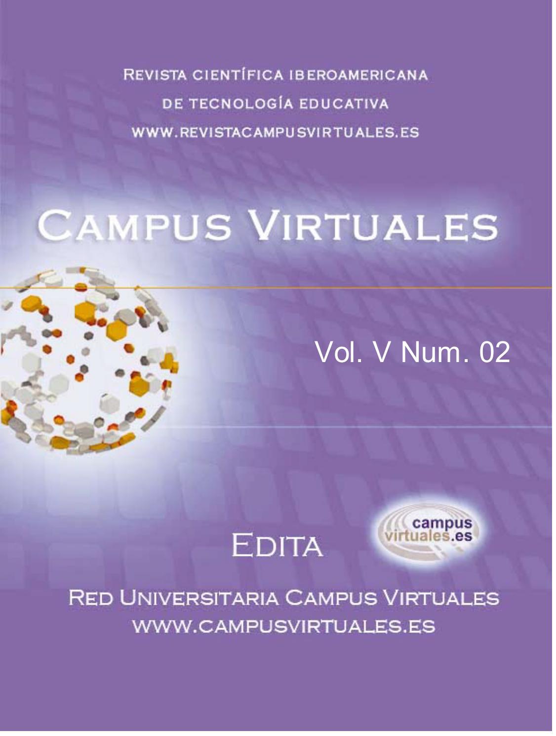 Revista \'Campus Virtuales\' 02 V by Revista Campusvirtuales - issuu