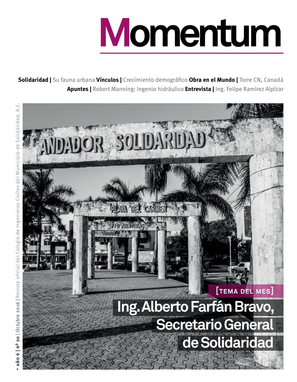 Momentum no.20 Octubre 2016 by Revista Momentum - issuu