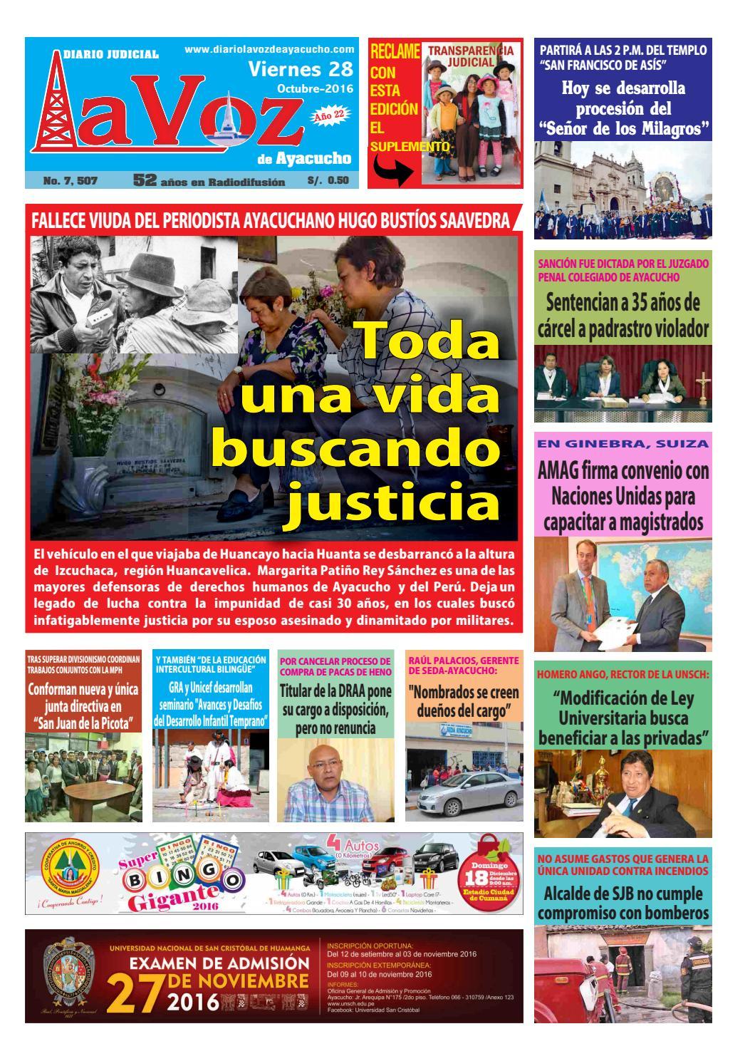 Edicion J 7507 Viernes 28 Octubre 2016 By Diario La Voz De  # Muebles Ludena Chimbote