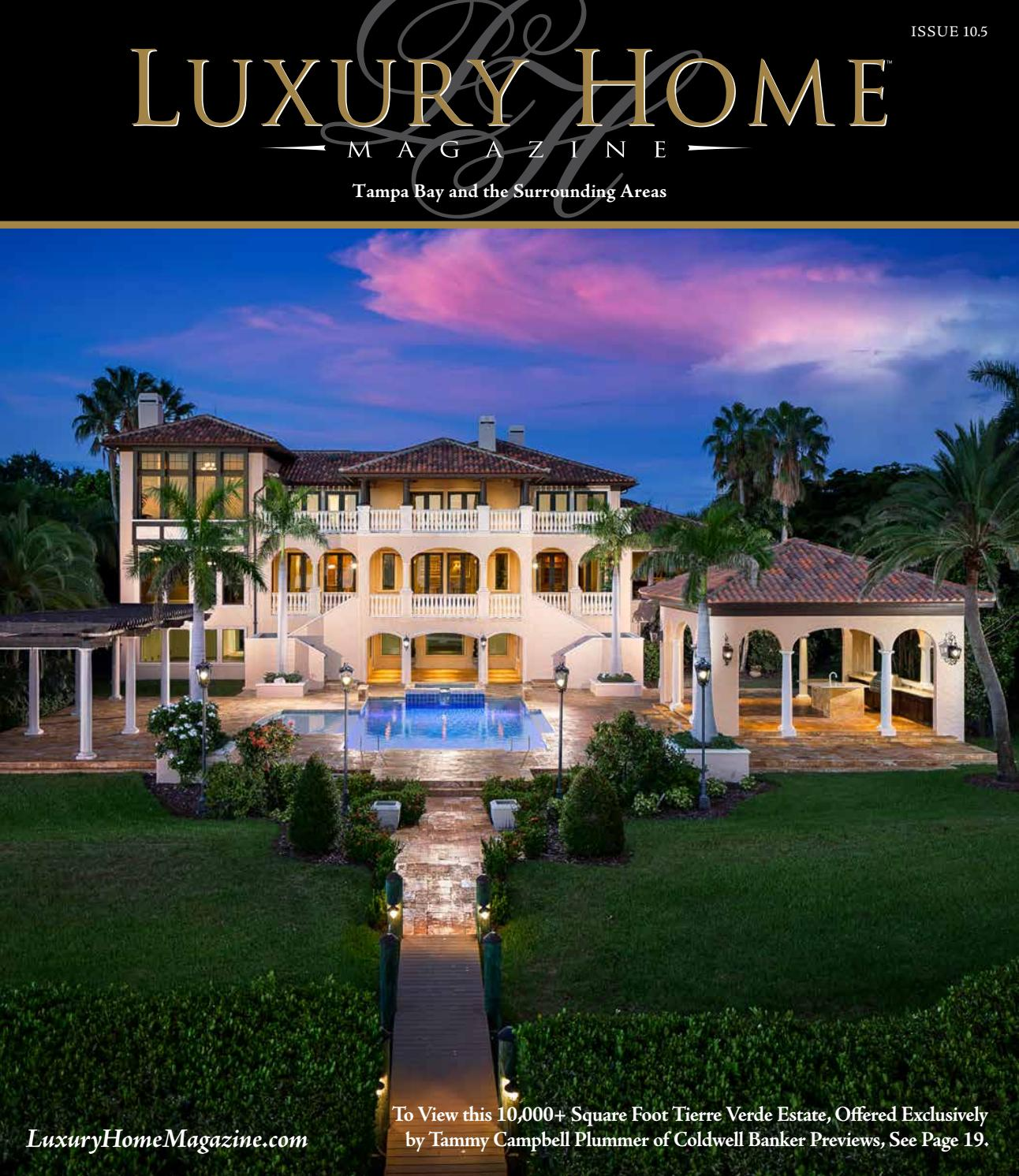 Mansion Luxury Pools With Waterfalls: Luxury Home Magazine Tampa Bay Issue 10.5 By Luxury Home