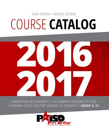 2016-2017 Course Catalog by PAISD Webmaster - issuu