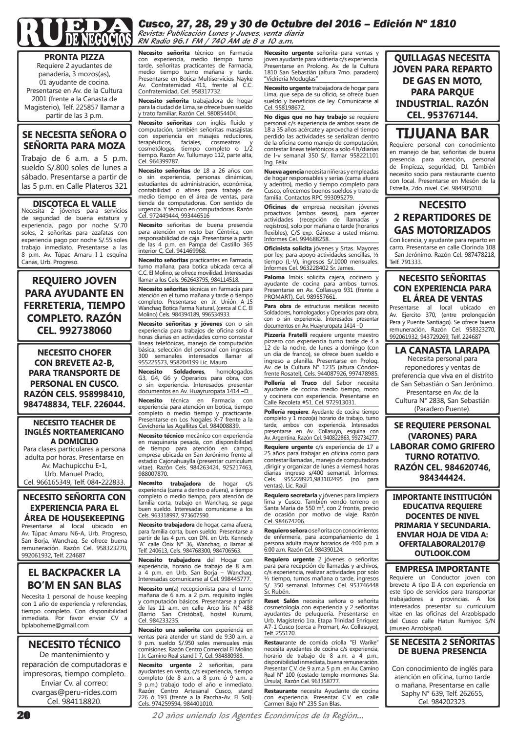 Edición 1810 by Rueda de Negocios - issuu
