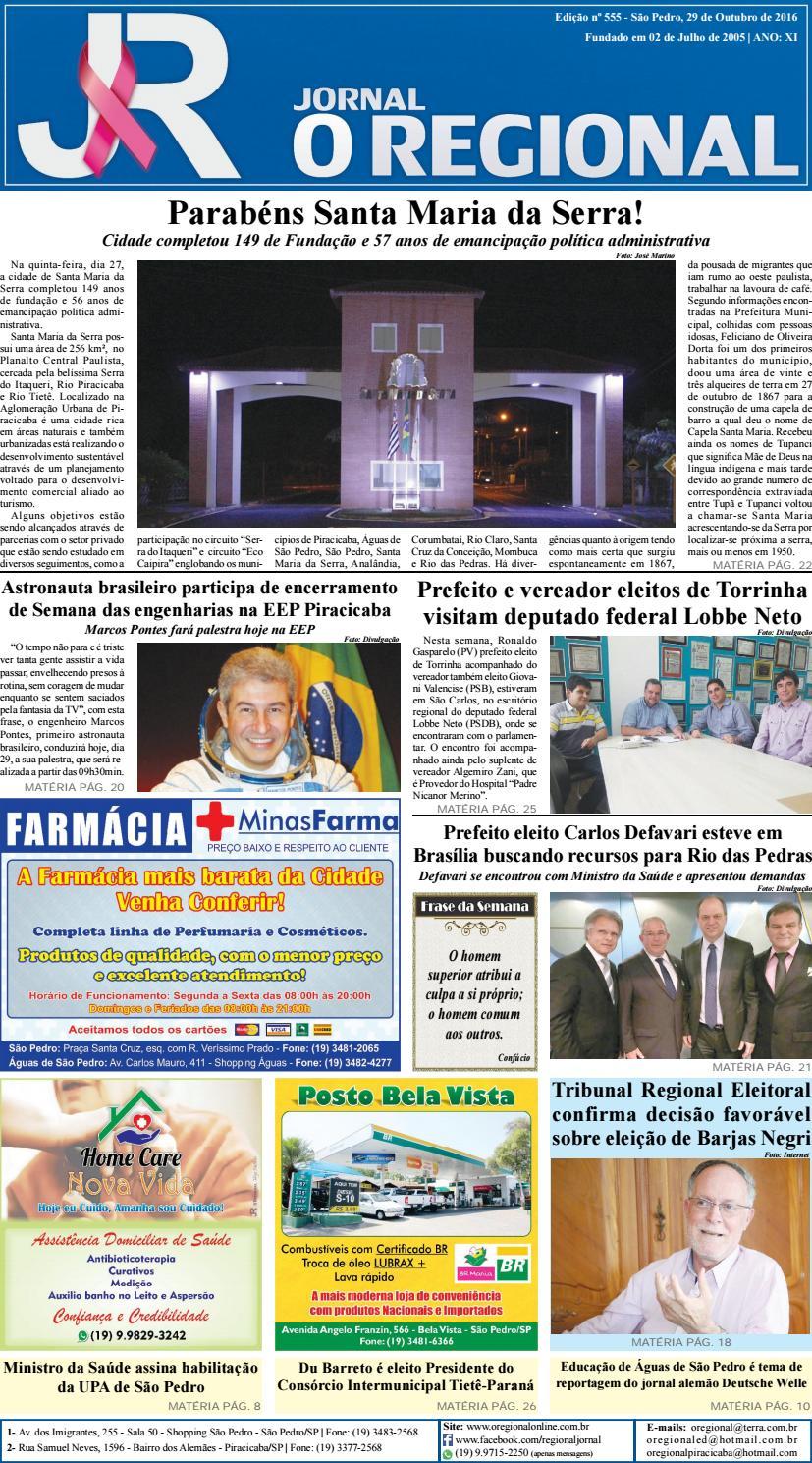 ba0f82596 Jornal o regional edição 555 29 10 2016 site by Jornal O Regional - issuu