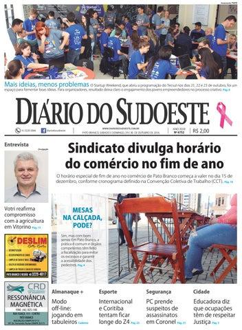 6ae2390b0 Diário do sudoeste 29 e 30 de outubro de 2016 ed 6752 by Diário do ...