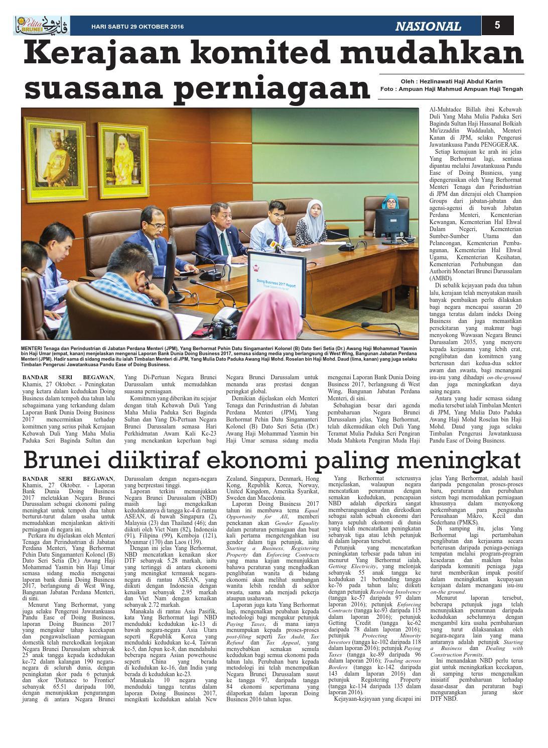 Pelita Brunei Sabtu 29 Okt 2016 by Putera Katak Brunei - issuu