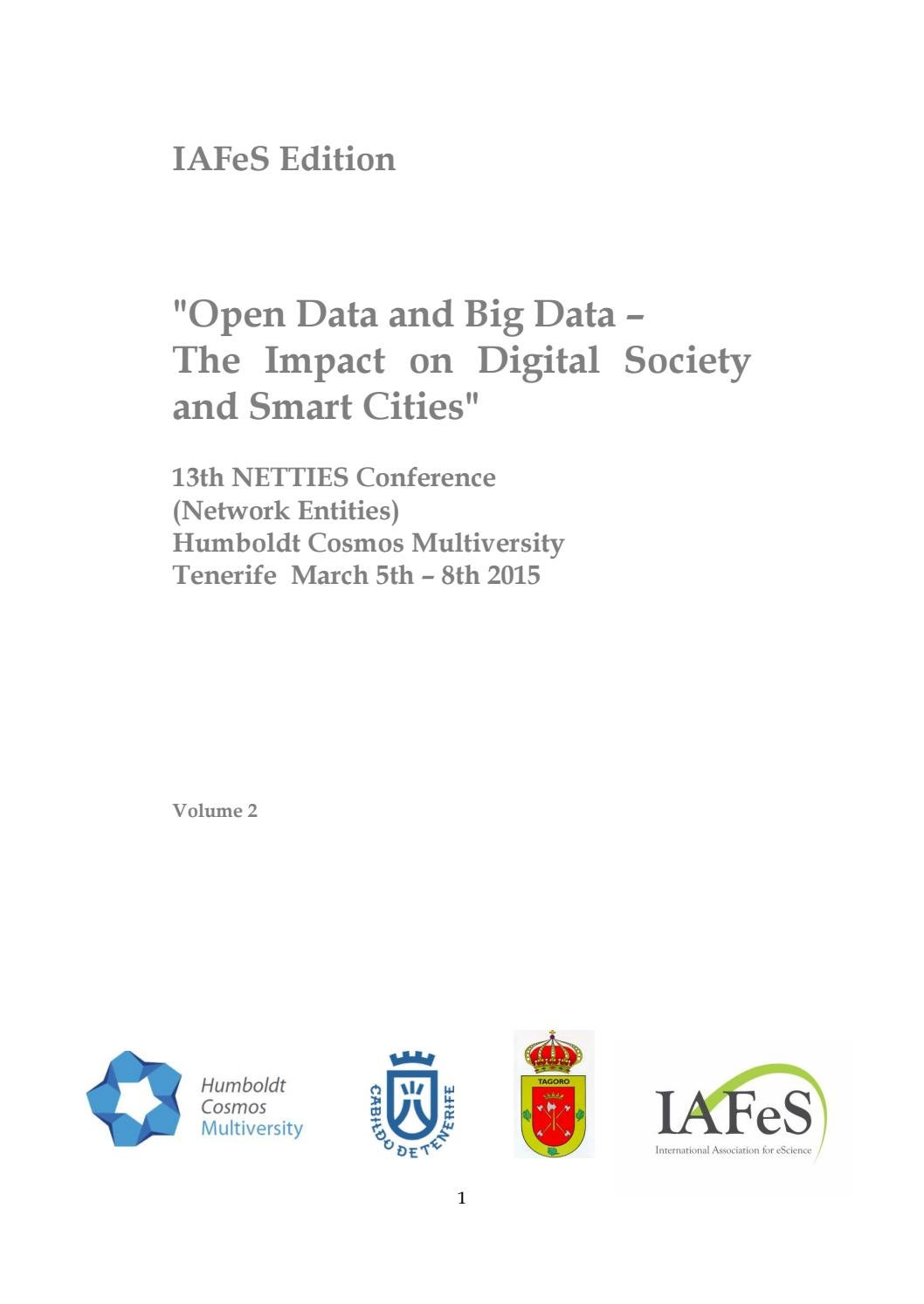 open data, smart cities and the digital society by günter koch's