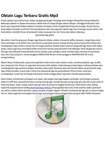 Download Lagu Gratis By Download Lagu Gratis Issuu