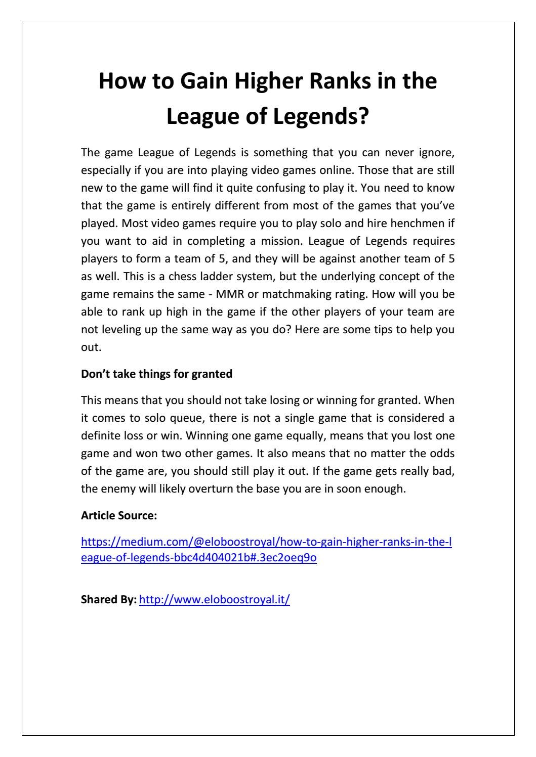 matchmaking rating league of legends