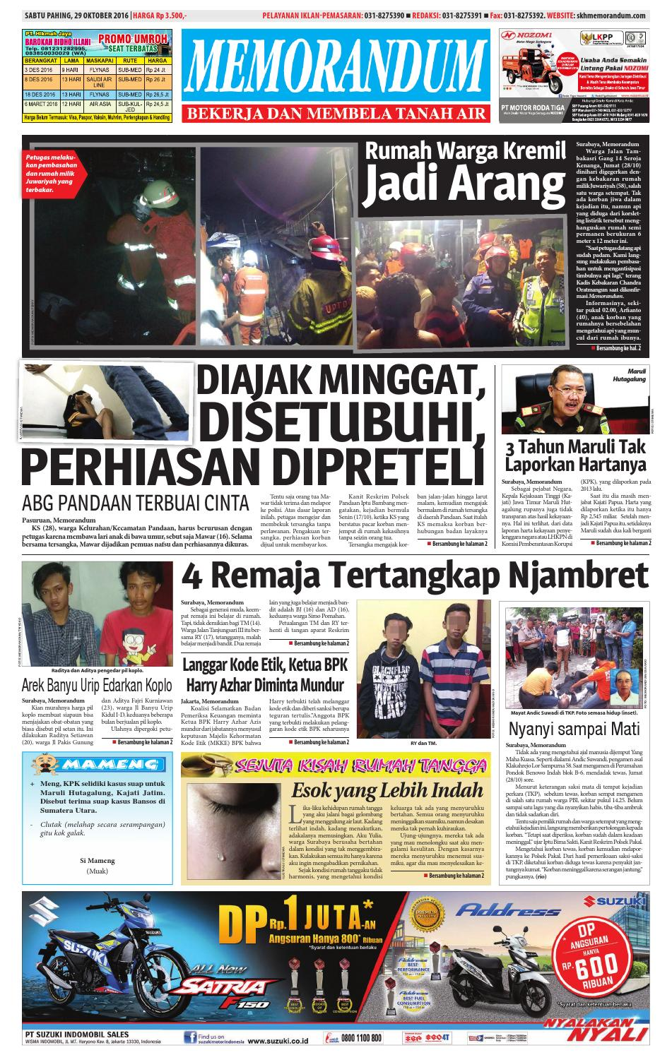 memorandum edisi 29 oktober 2016 by memorandum issuu