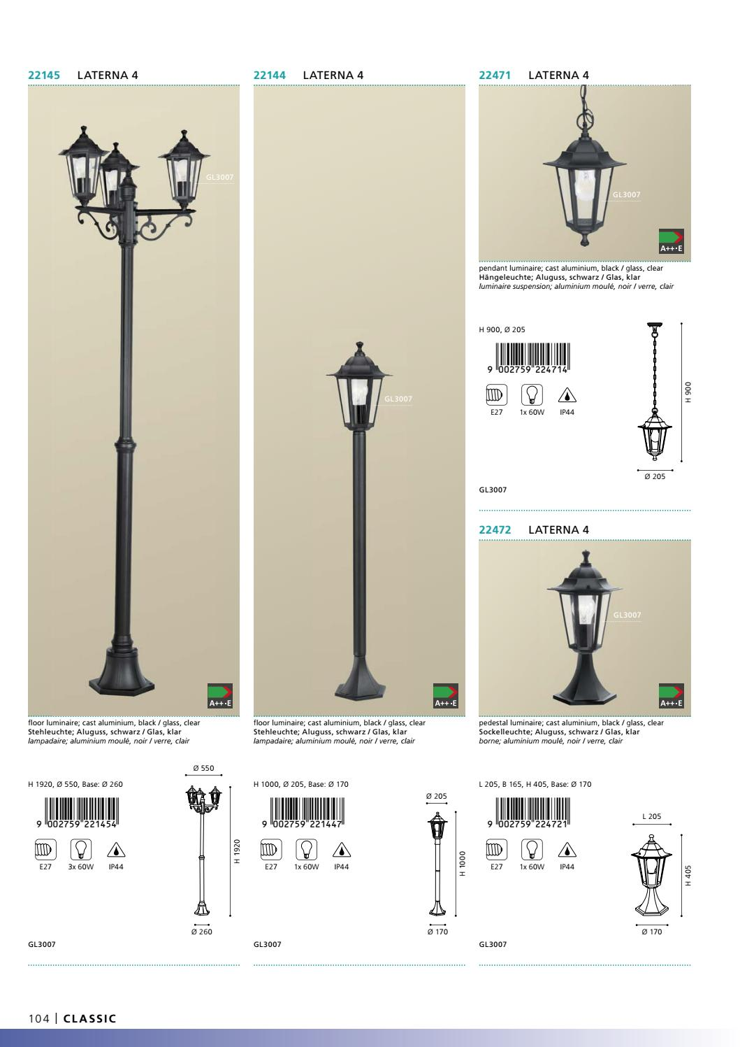 Eglo Outdoor Lighting 2017 By Ideias