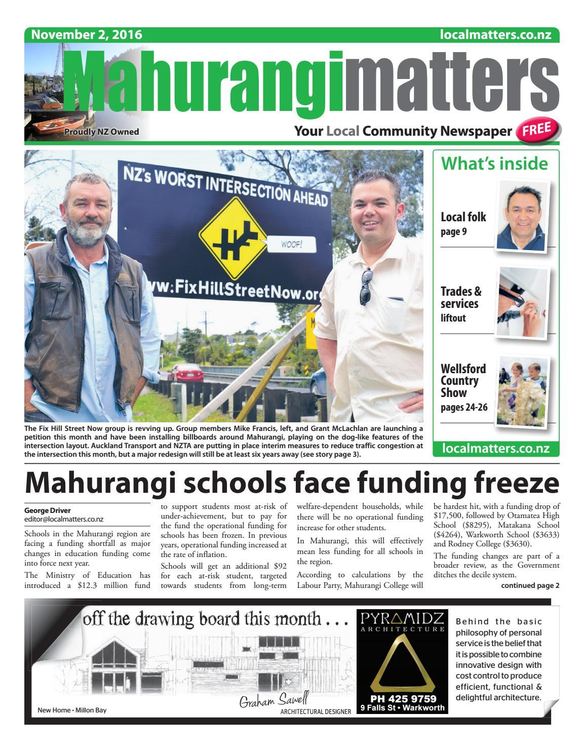 Mahurangi Matters 2 Nov 2016 By Localmatters