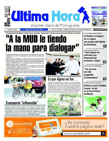 Edicion 31 10 2016 by Ultima Hora - El primer diario de Portuguesa ... b4e37558c3c