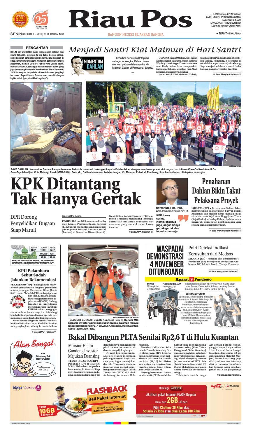 2016 10 31 By Riau Pos Issuu Produk Ukm Bumn Tenun Pagatan Kemeja Pria Biru Kapal