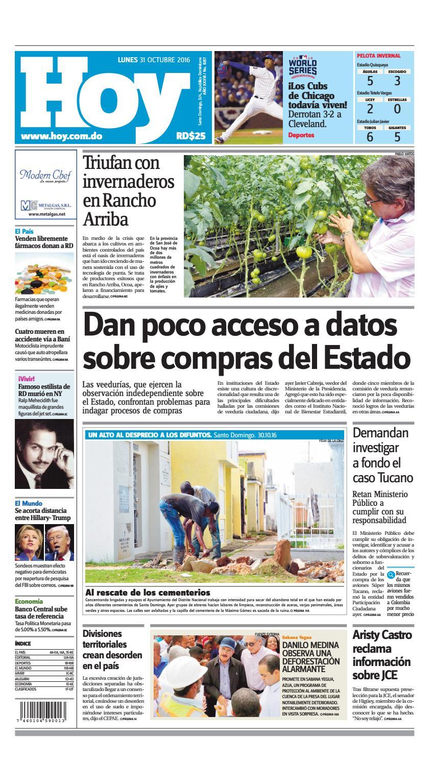 online store b6020 e0197 Edición impresa hoy (lunes 31 de octubre, 2016) by Periodico Hoy - issuu