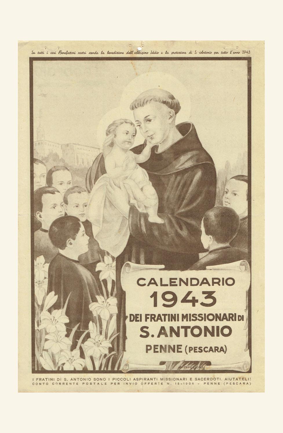Calendario 1906.Voce Serafica Calendario 1943 By Padreurbano Issuu
