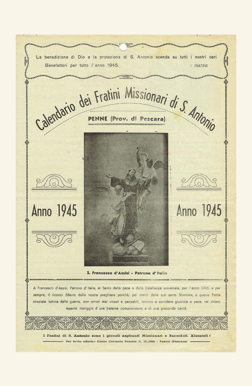 Calendario 1906.Voce Serafica Calendario 1945 By Padreurbano Issuu
