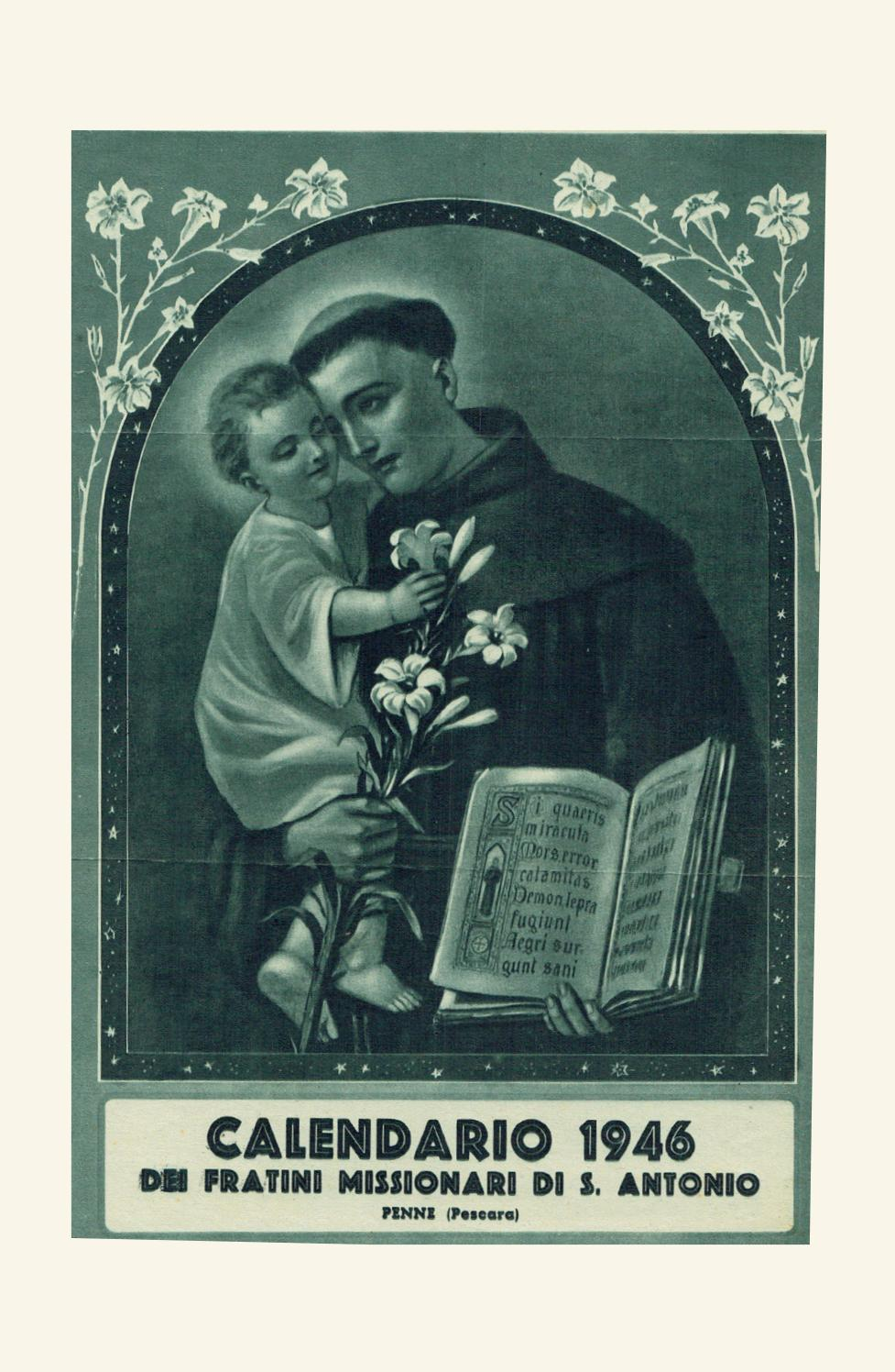 Calendario 1946.Voce Serafica Calendario 1946 By Padreurbano Issuu