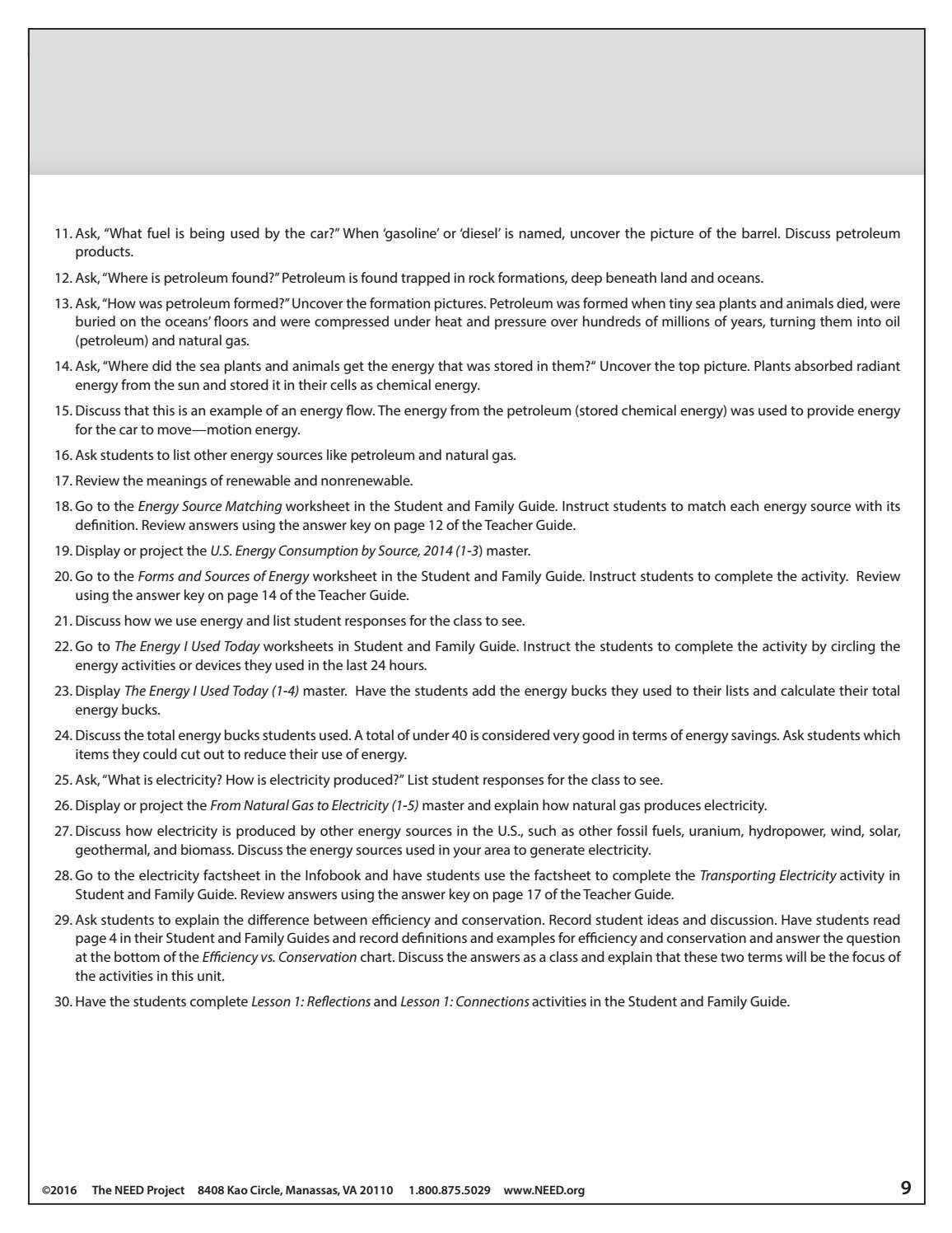 Worksheets Forms Of Energy Worksheet saving energy teacher guide by need project issuu