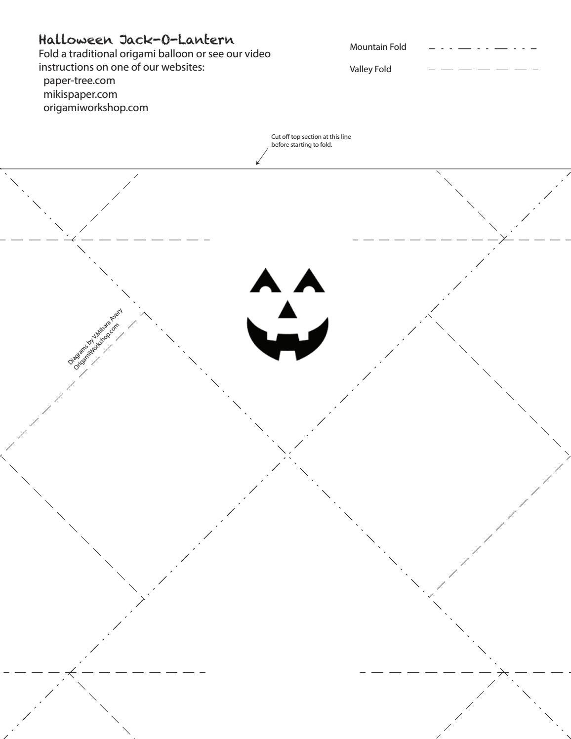 Halloween Origami Diagrams