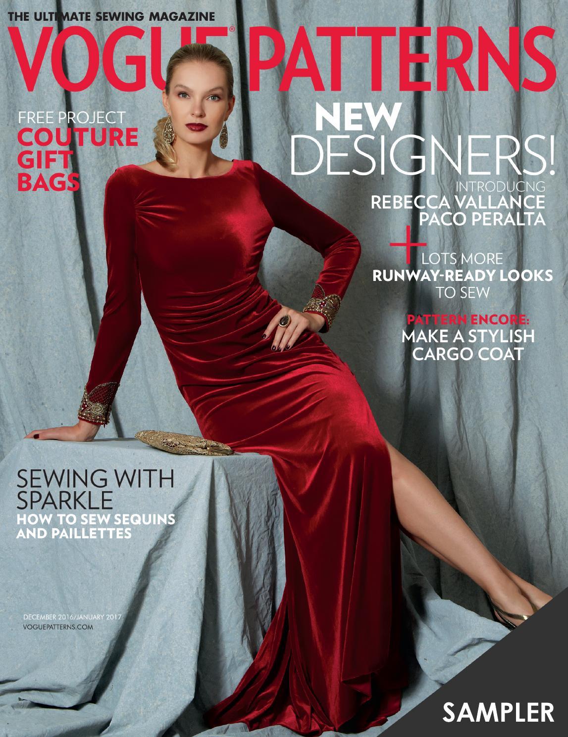 Vogue Patterns Magazine December 2016/January 2017 Sampler