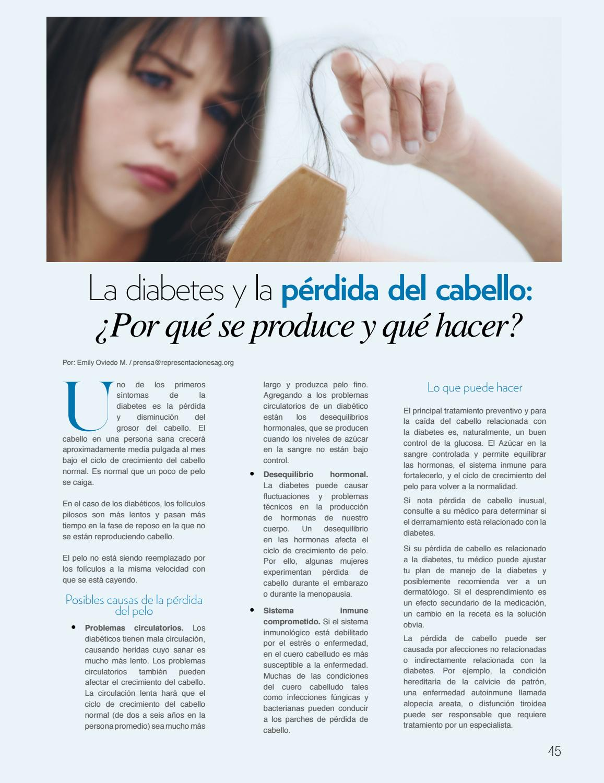 cuero cabelludo causa diabetes