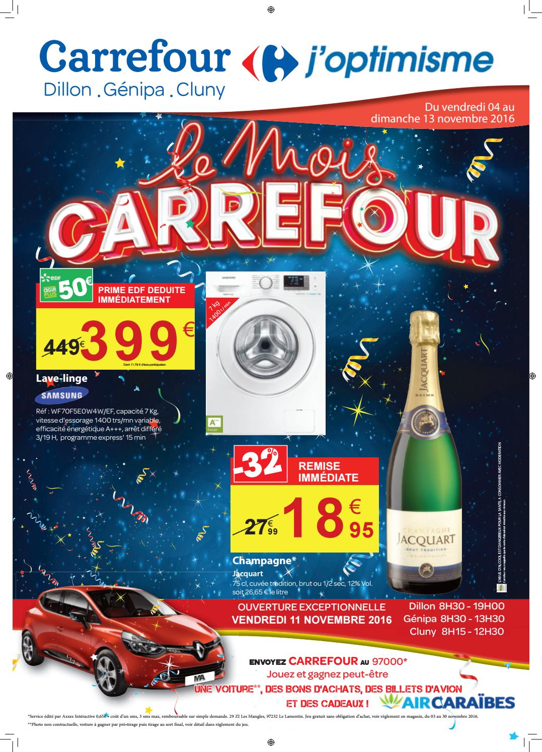 carrefour mois carrefour du 04 au 13 novembre 2016 martinique by momentum m dia issuu. Black Bedroom Furniture Sets. Home Design Ideas