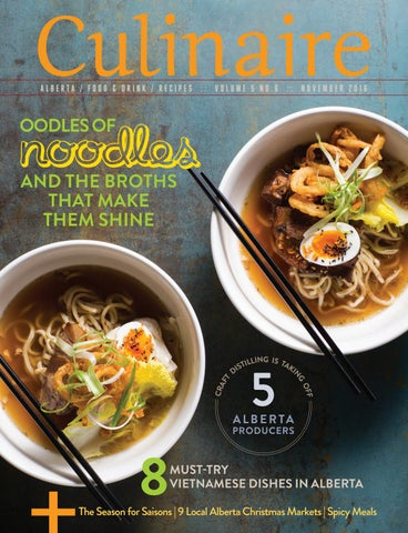 ALBERTA / FOOD & DRINK / RECIPES :: VOLUME 5 NO.6 :: NOVEMBER 2016