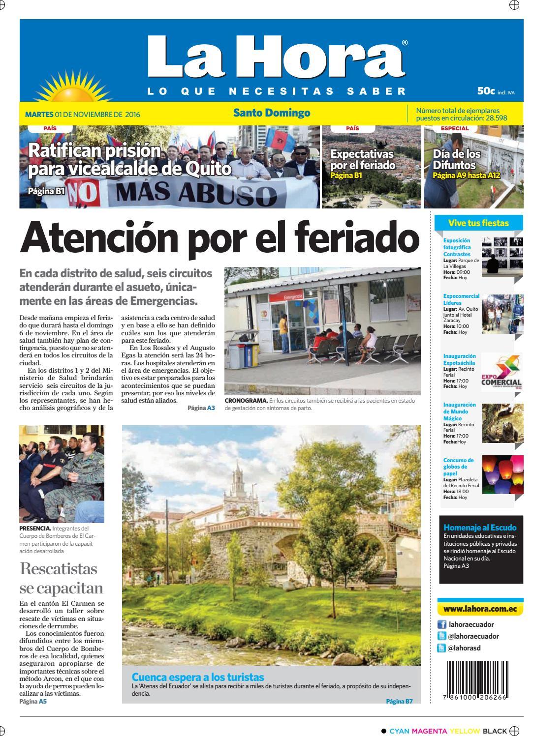 Santo Domingo 01 De Noviembre De 2016 By Diario La Hora Ecuador  # Ozuna Muebles Posadas