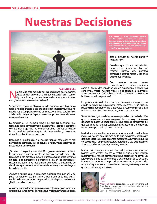 Revista Noviembre 2016 by Revista Mujer y Poder - issuu