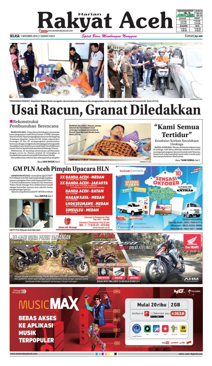 01 Oktober 2016 By E Rakyat Aceh Issuu