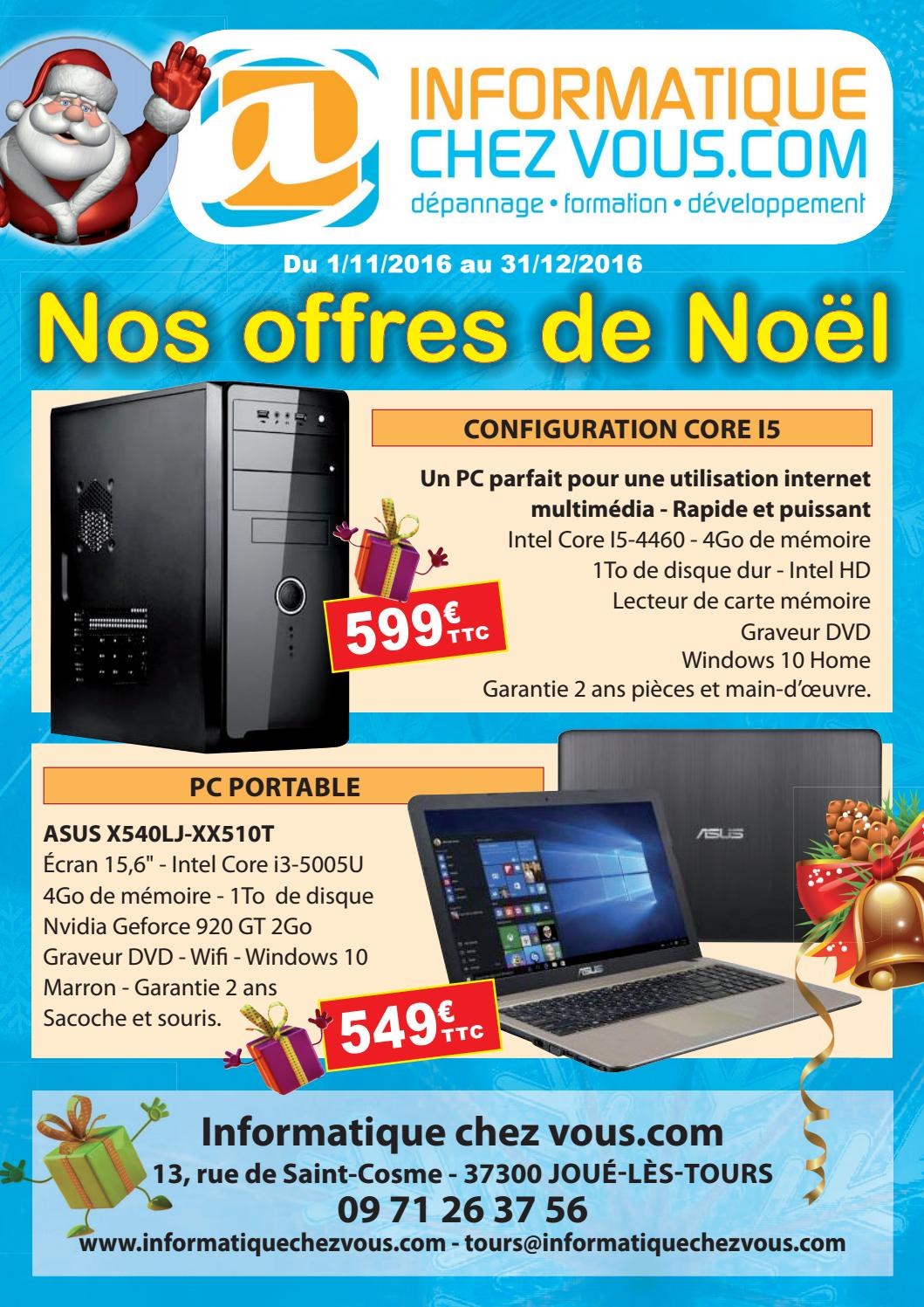 Carte De Noel Informatique.Informatique Chez Vous Catalogue De Noel 2016 By Sylvain
