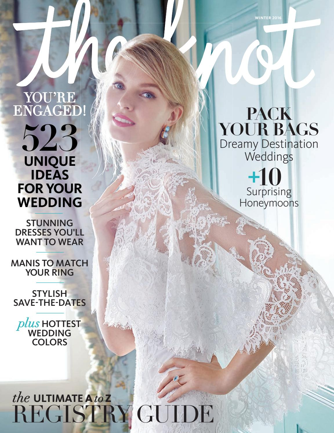 8727cd66f58 The Knot Winter 2016 by The Knot - issuu