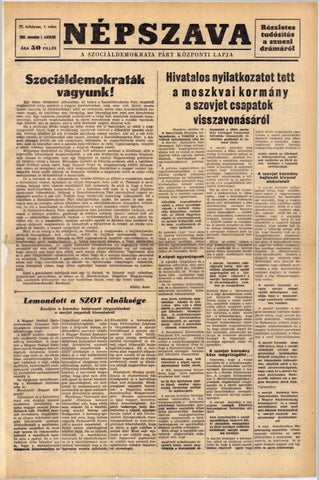 Népszava 1956. november 1. by BpGyujt - issuu f32db50d10