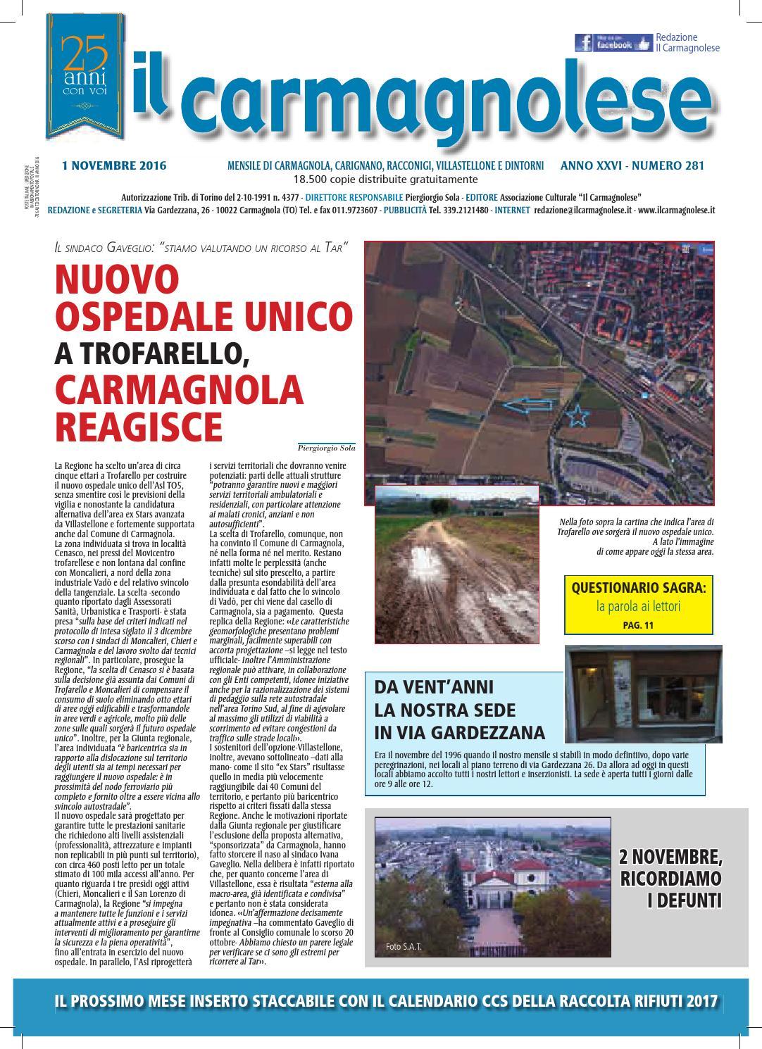 Centro Del Materasso Carmagnola.Il Carmagnolese Novembre 2016 By Redazione Il Carmagnolese Issuu