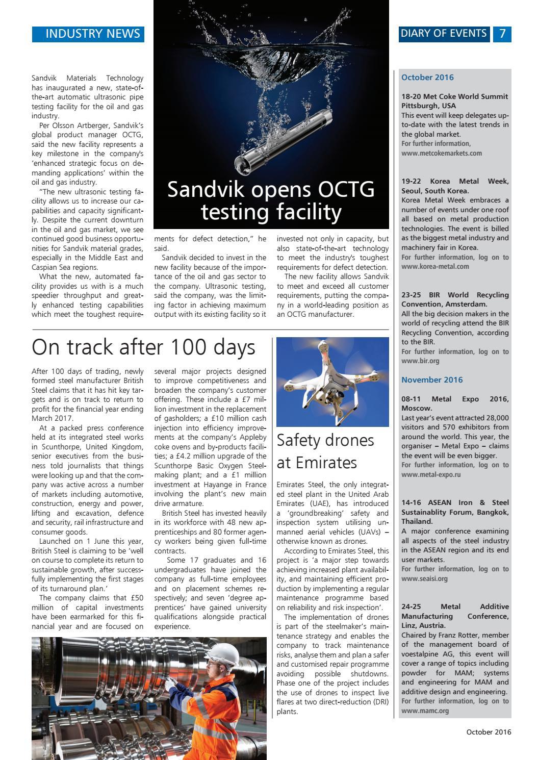 Steel Times International October 2016 by Quartz - issuu