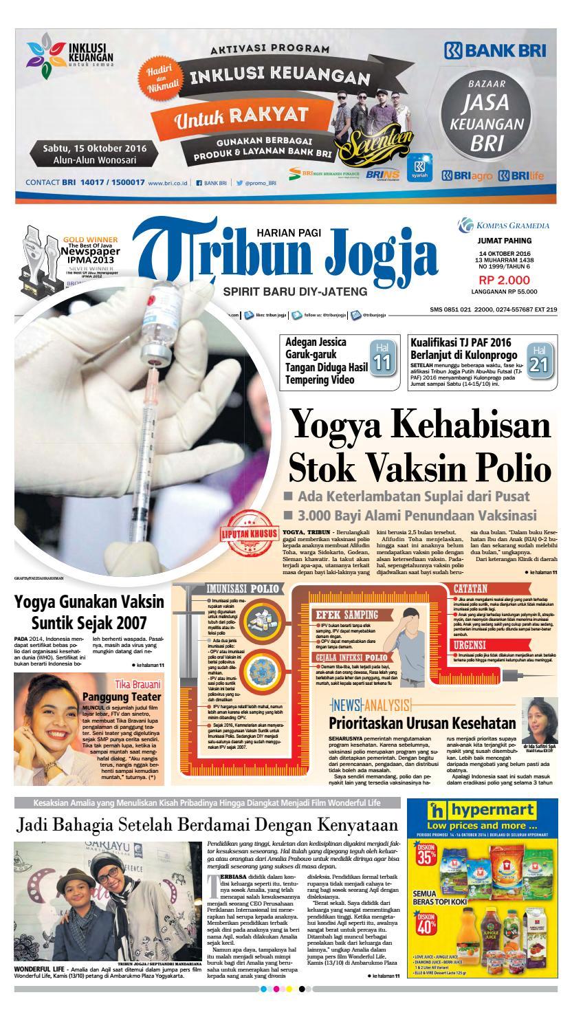 Tribunjogja 14 10 2016 By Tribun Jogja Issuu Mesin Untuk Membungkus Makanan Hand Wrapping Sat Hw450starpack