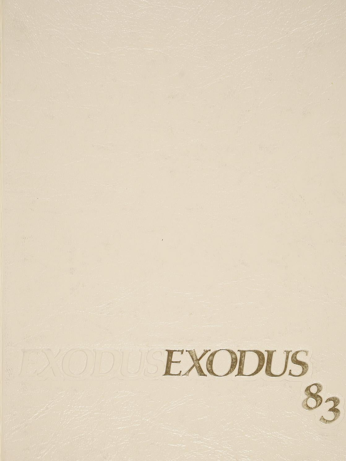 Exodus 1983 Yearbook By Rhode Island College Digitial Initiatives