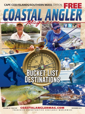 9721f1233d6 Coastal Angler Magazine-Nov.   Cape Cod - Islands - Southern Mass ...