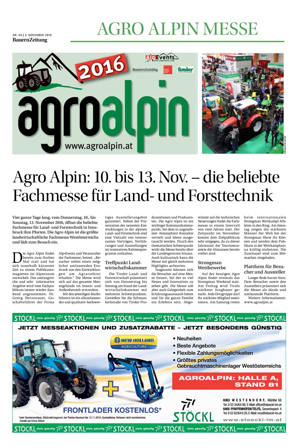 Messemagazin agro alpin 2016 by Tom Leiter - issuu