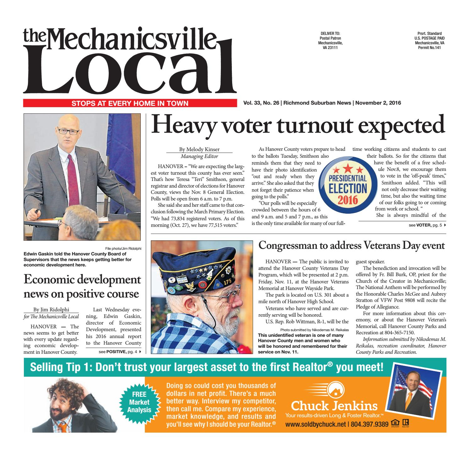 11/02/16 by The Mechanicsville Local - issuu
