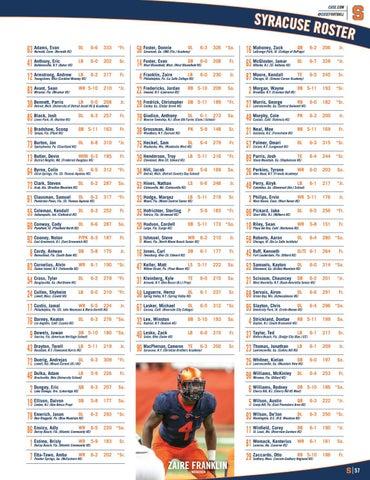 Clemson Football // 2016 Syracuse Gameday Program by ...