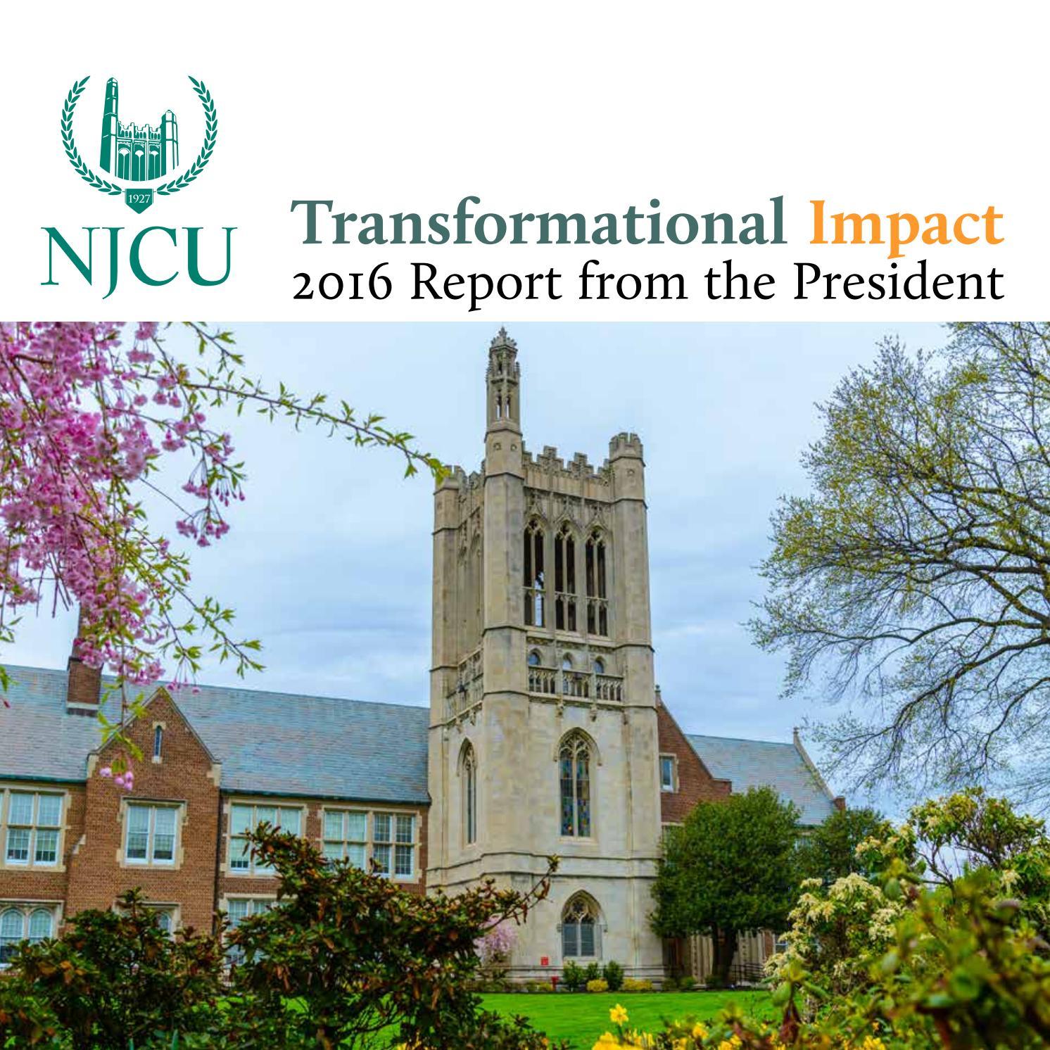 Njcu Presidents Report 2016 By New Jersey City University Issuu
