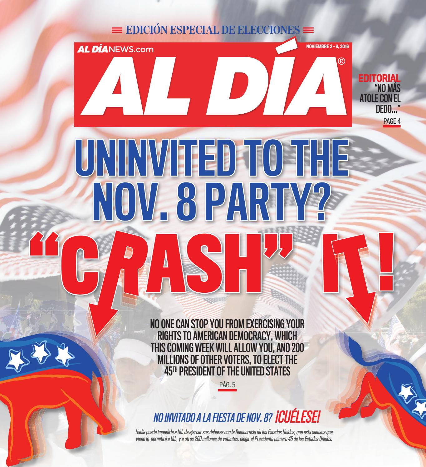 AL DÍA NEWS November 2 - 9, 2016 by AL DÍA NEWS - issuu