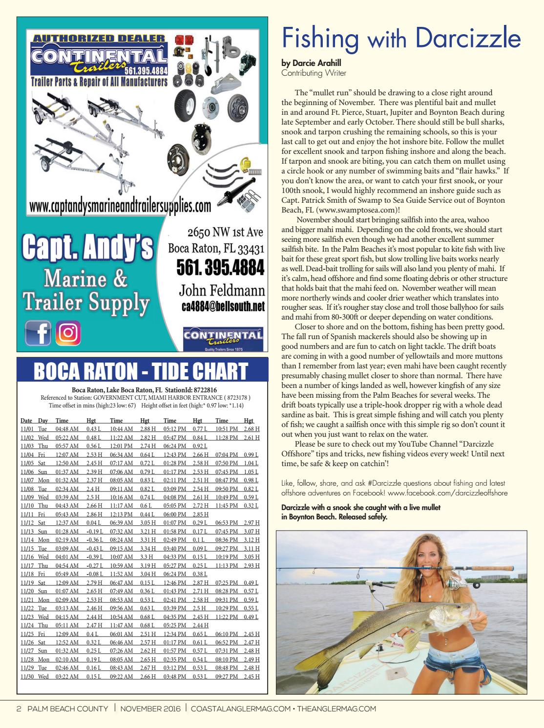 Coastal Angler Magazine Nov Palm Beach County By Coastal Angler