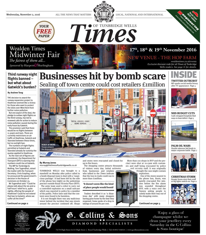 Times of Tunbridge Wells 2nd November 2016 by One Media issuu