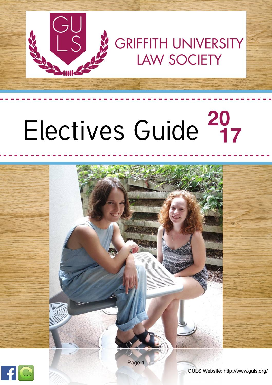 GULS Trimester 1 Electives Guide 2017 by Griffith University Law Society -  issuu